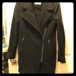 Smart Set black wool coat Small size
